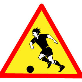 Watching Football Sign - vector gratuit #205025