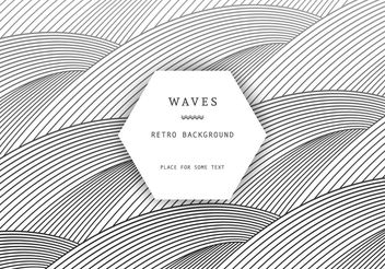 Retro Waves Background - vector #205145 gratis
