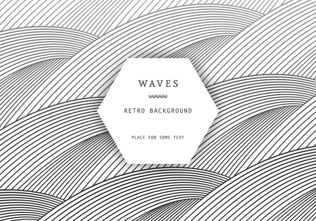 Retro Waves Background - Free vector #205145
