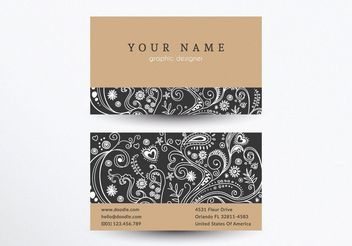 Creative Business Card Template - Kostenloses vector #205155
