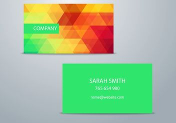 Colorful Business Card Template - Kostenloses vector #205175