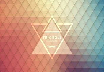 Retro Hipster Triangle Design - Free vector #205185