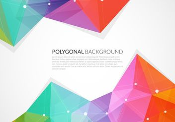 Abstract Colorful Triangle Vector Background - vector gratuit #205195