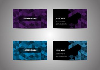 Free Business Card Vectors - vector #205205 gratis