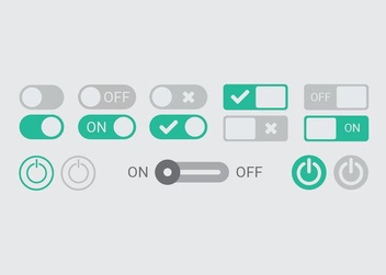 On Off Button Vectors - бесплатный vector #205235