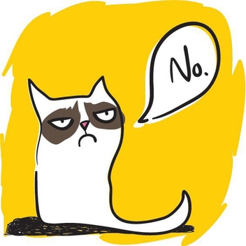 Grumpy Cat - Free vector #205295