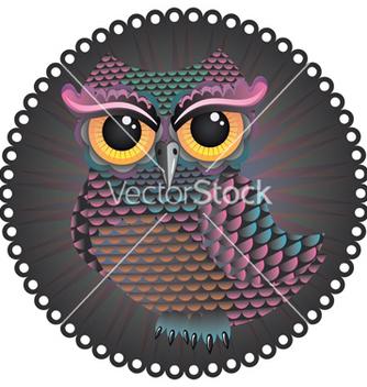 Free pink and blue color owl2 vector - vector gratuit #205335