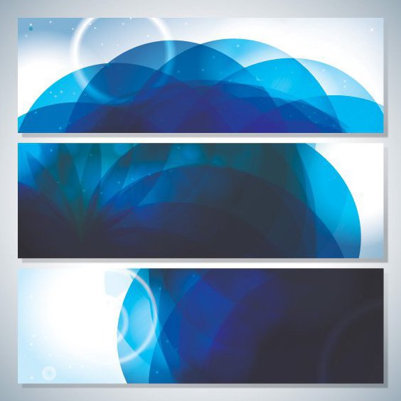Blue Shades Banners - Free vector #205515