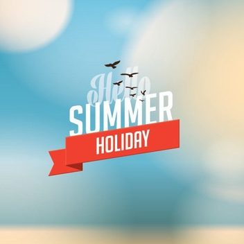 Summer Holiday - vector gratuit #205545