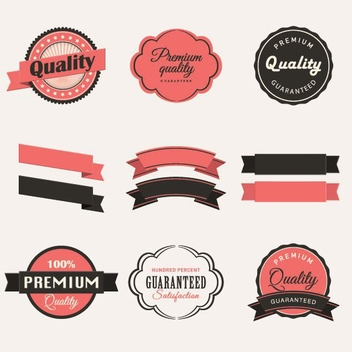 Vintage Labels Collection - vector gratuit #205555