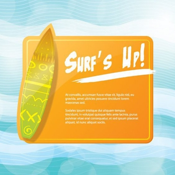 Surf Flyer Design - Kostenloses vector #205575