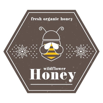 Vintage Honey Label - vector #205645 gratis