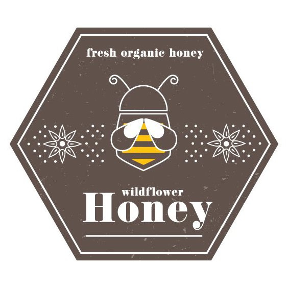 Vintage Honey Label - Free vector #205645