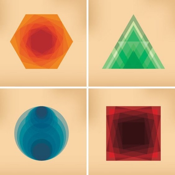 Shapes Background - vector gratuit #205655
