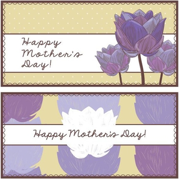 Mother's Day Banners - vector gratuit #205805