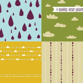 Cute Vector Patterns - Kostenloses vector #205905