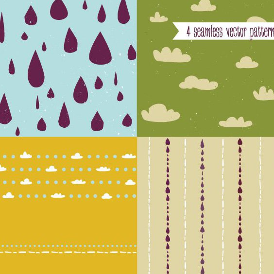 Cute Vector Patterns - Free vector #205905