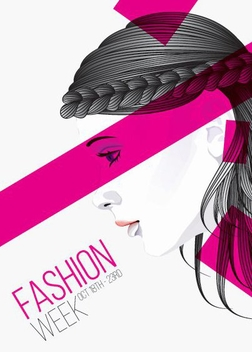 Fashion Week Poster - vector #205915 gratis
