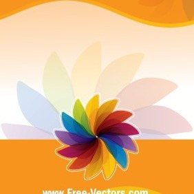 Flower Colorful Vector Background - vector gratuit #206065
