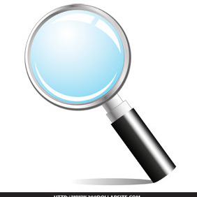 Free Magnifying Glass Vector - vector #206075 gratis