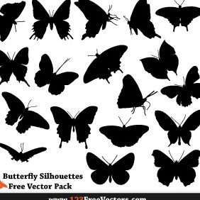 Free Butterfly Silhouette Vector Pack - vector #206095 gratis