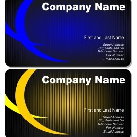 Set Of Artistic Business Cards - vector gratuit #206125