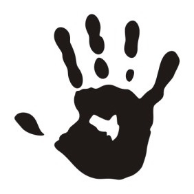 Print Of A Hand - vector gratuit #206135