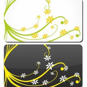 Gift Card With Floral Elements - vector #206215 gratis