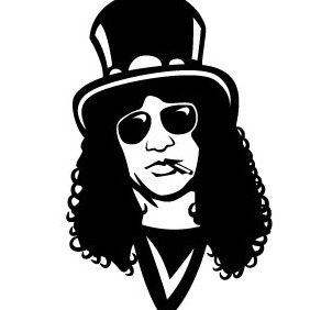 Slash Guns And Roses Vector - Kostenloses vector #206405