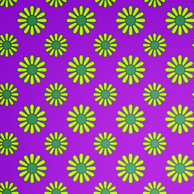 Vibrant Retro Style Seamless Petal Pattern - Free vector #206475