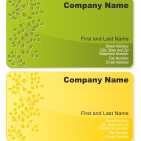 Floral Business Card Set - vector gratuit #206545