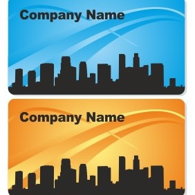 City Business Card Design - Free vector #206575