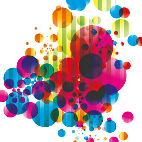 Abstract Colored Bubbles Vector - vector gratuit #206635