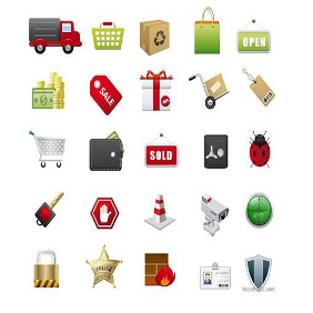 Http:www.vectorilla.com201007e-commerce-vector-icons - vector #206655 gratis
