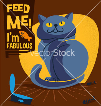 Free cartoon cat design vector - бесплатный vector #206665