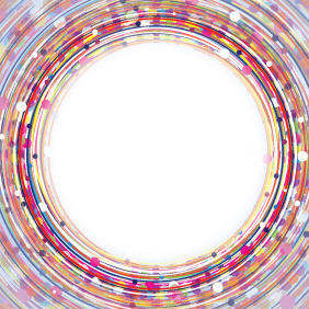 Center Of Light With Colorful Circles - vector gratuit #206685
