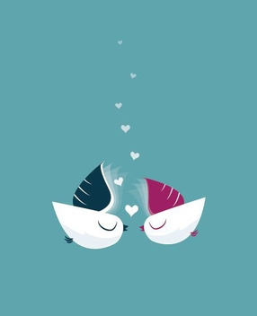 Heavenly Birds - vector #206705 gratis