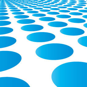 Blue Circle Burst Vector Background - Free vector #206845