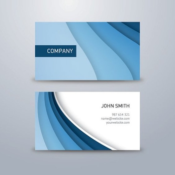 Corporate Blue Business Card - vector gratuit #206905