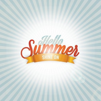 Hello Summer - Free vector #206935