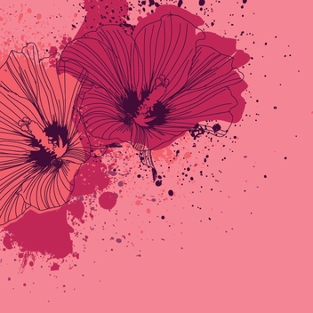 Splashed Flowers - vector gratuit #206955