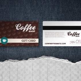 Gift Card Template - vector gratuit #206975