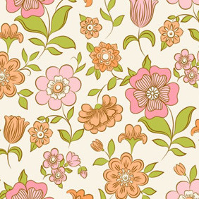 Great Floral Pattern - vector #206985 gratis