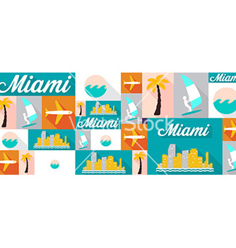 Free travel and tourism icons miami vector - Free vector #207015