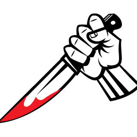 Bloody Knife Vector - vector #207045 gratis