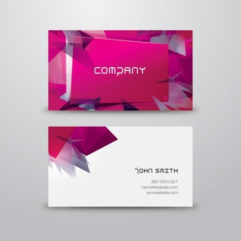 Modern Business Card - vector gratuit #207095