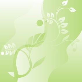 Abstract Green Floral Background - vector gratuit #207175