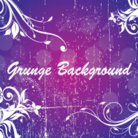 Grunge Swirly Purple Background Free Vector - бесплатный vector #207275