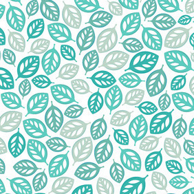 Blue Leaf Pattern - vector #207295 gratis