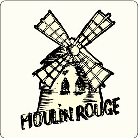 Vector Moulin Rouge - vector gratuit #207315